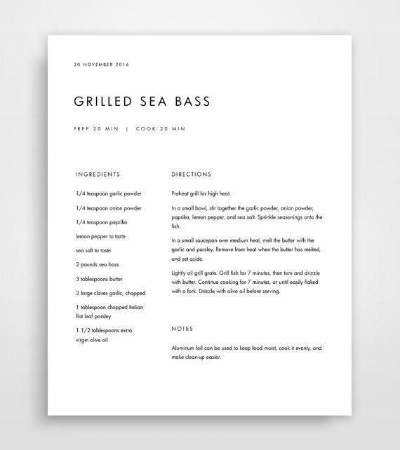 Recipe Binder Recipe Book Recipe Templates Recipe Binder