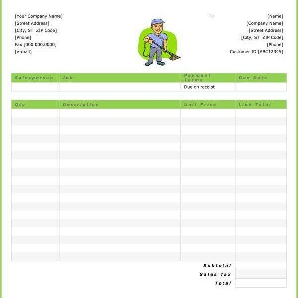 Download Invoice Template Cleaning Services | rabitah.net