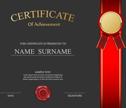 Honor certificate creative design vector Free vector in ...