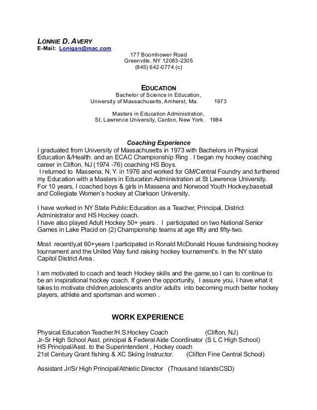 Athletic Resume Template. High School Senior Resume Sample | Scope ...