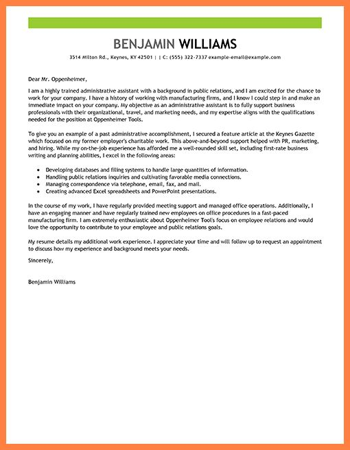 4+ cover letter for administrative assistant examples | Life ...