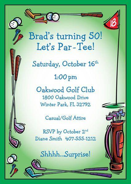Golf Birthday Party Invitations - vertabox.Com