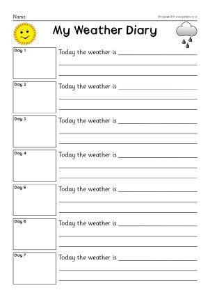 Diary Writing Frames and Printable Page Borders KS1 & KS2 - SparkleBox