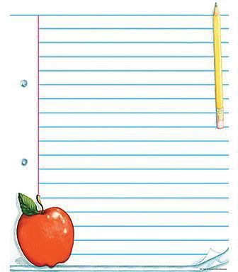 Teacher Created Resources® Note Pad Paper Lined Chart | Staples®