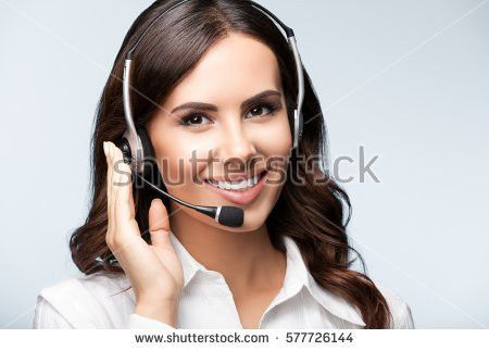 Customer Support Phone Operator Headset Blank Stock Photo ...
