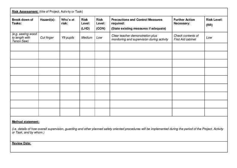 File:DTOLRiskAssessmentBLANK.pdf - DT Online