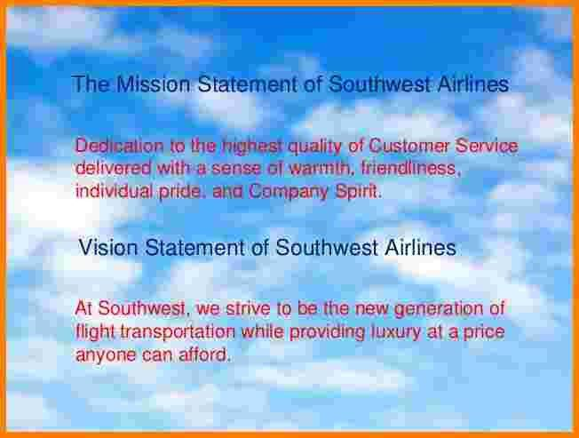 5+ airline mission statement examples | Case Statement 2017