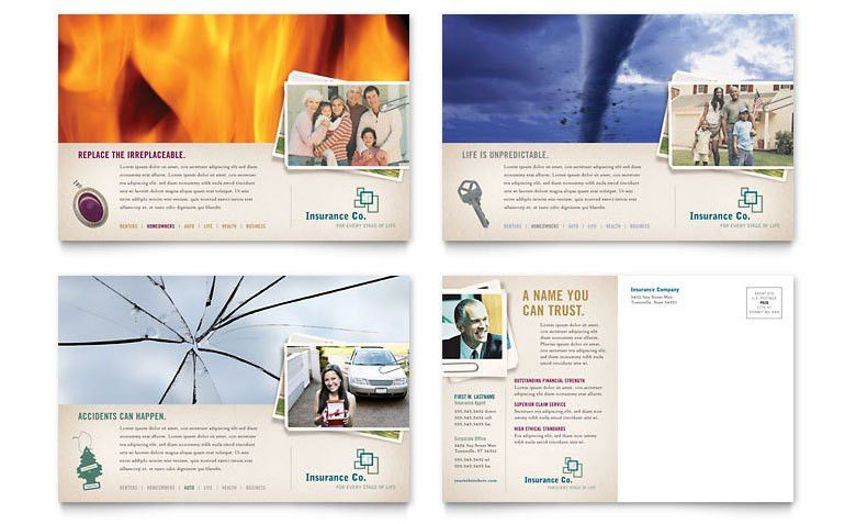 Life Insurance Company Postcard Template - Word & Publisher