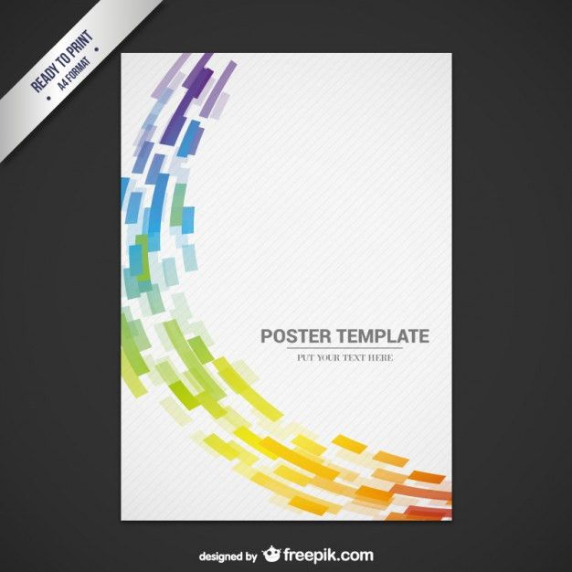 Abstract flyer template Free Vector | graphics | Pinterest | Flyer ...