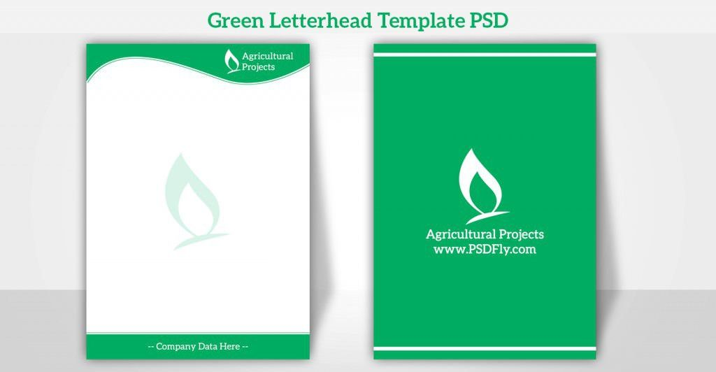 Psd Letterhead Template. Modern Green Corporate Letterhead ...
