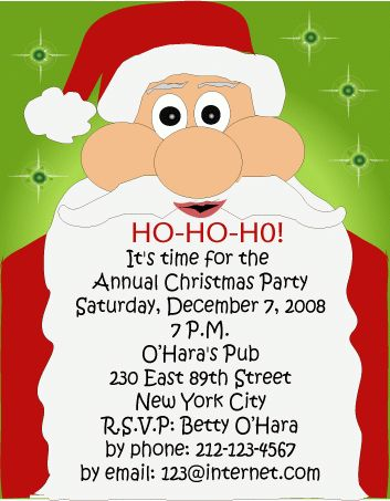 Free Christmas Party Invitation Templates - plumegiant.Com