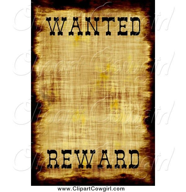 Wanted Poster Cliparts - The Cliparts