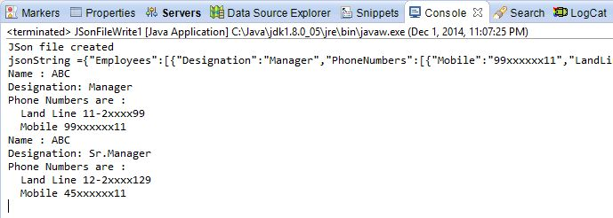How to read / write JSON data using java-json.jar with example ...