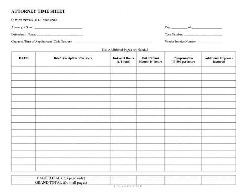 Attorney Billable Hours Template | Business Plan Template