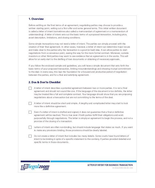 14+ Letter Of Intent Templates   Free Sample, Example, Format .