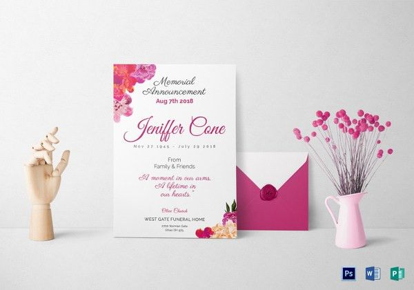Funeral Invitation Templates – 12+ Free PSD, Vector EPS, AI ...