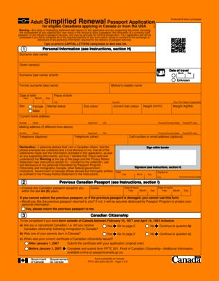 10+ canada passport application forms   barber resume