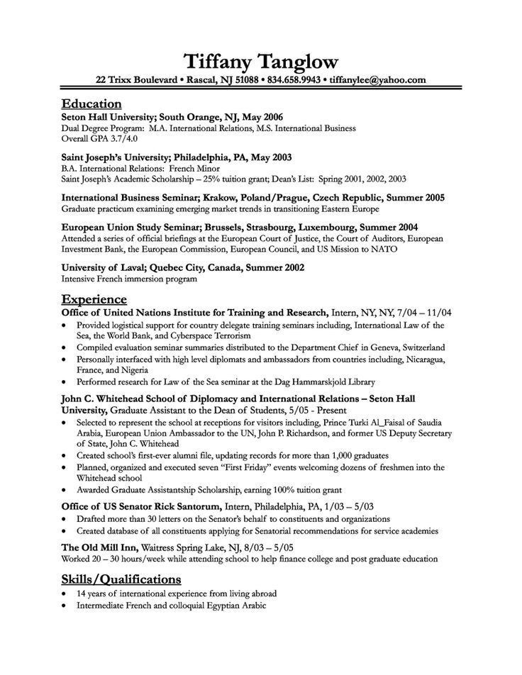 59 best High School Resumes images on Pinterest | Resume ideas ...