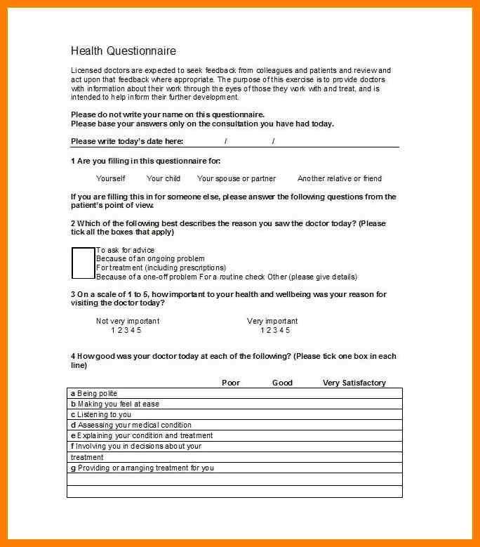 Questionnaire Template Pages - Contegri.com