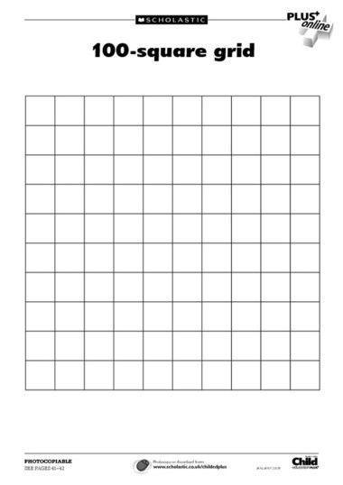 100 Square Grid Template   art education   Pinterest   Squares ...