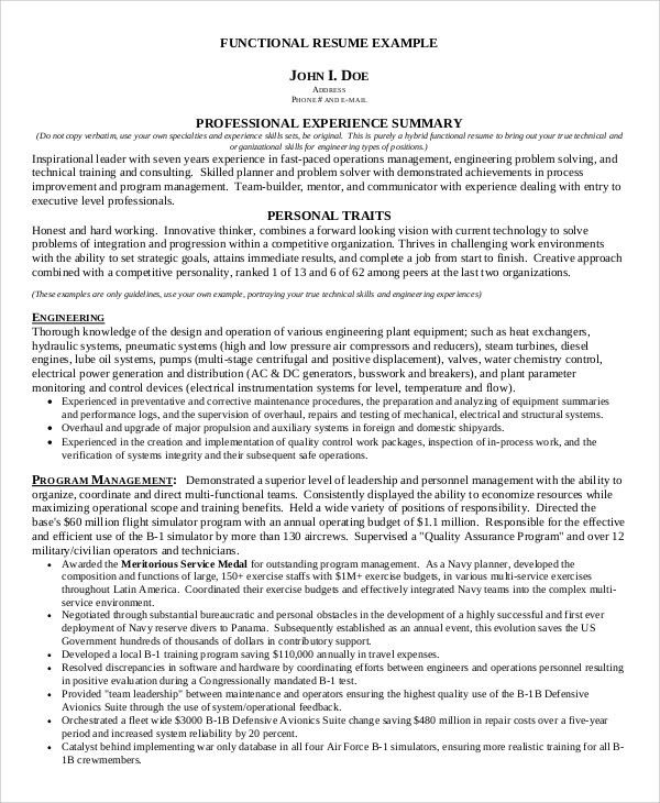 functional resume sample 9 examples in pdf. resume example ...