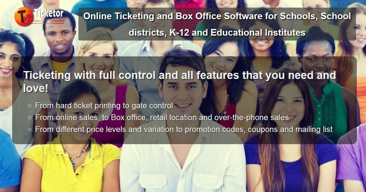 Online Ticketing and Box Office Software for Schools, School ...