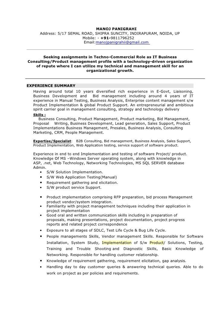Best Consulting Resumes Example - Writing Resume Sample | Writing ...