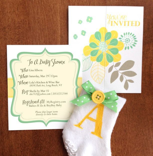 DIY Baby Shower Invitations -