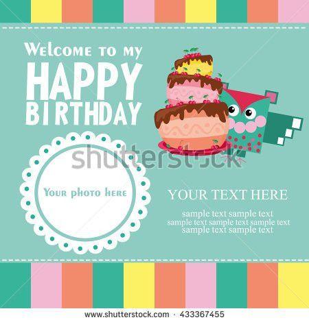Happy Birthday Card Design Vector Illustration Stock Vector ...