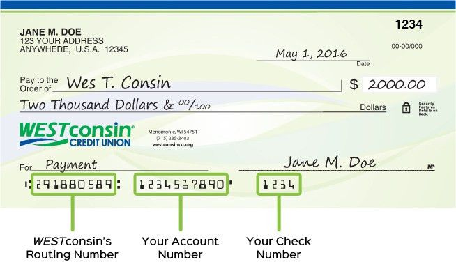 Example check how to write a check step by step explanation routing transit number info westconsin credit union ccuart Image collections