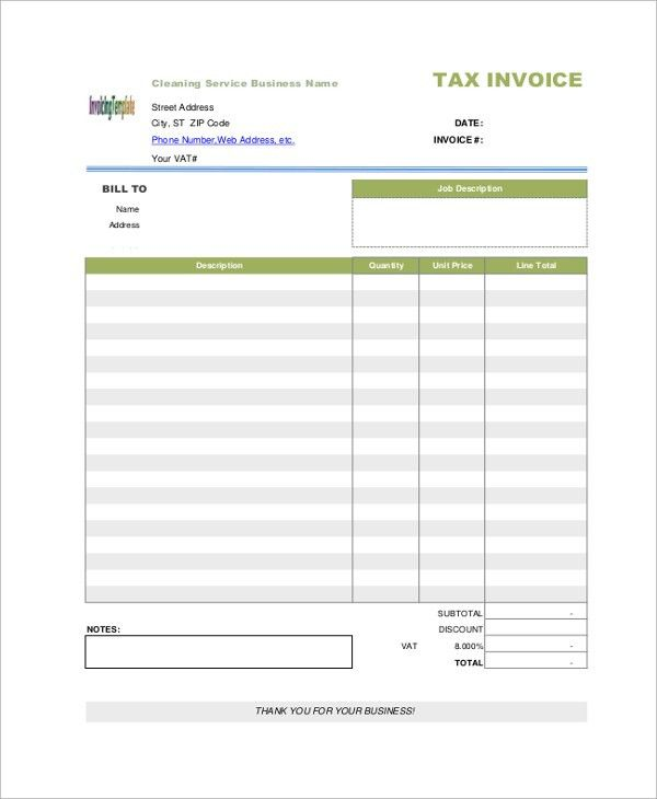 Sample Blank Invoice - 7+ Documents in PDF