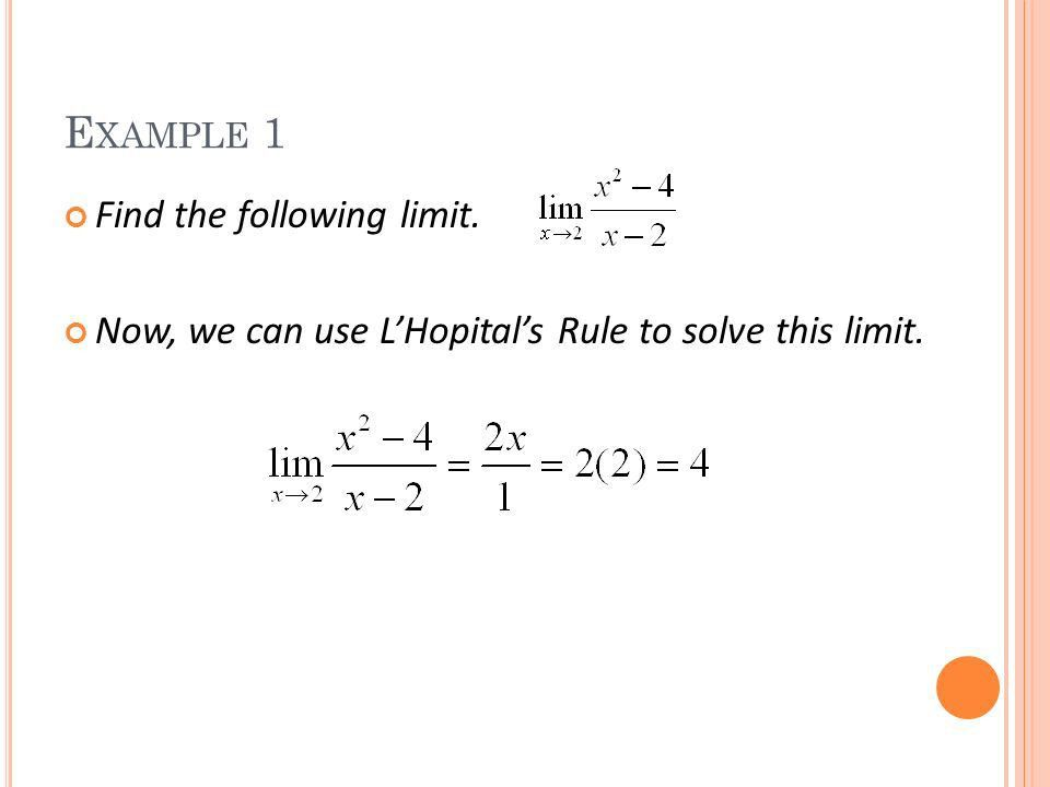 LESSON 64 L'HOPITAL'S RULE HL MATH - CALCULUS - ppt download