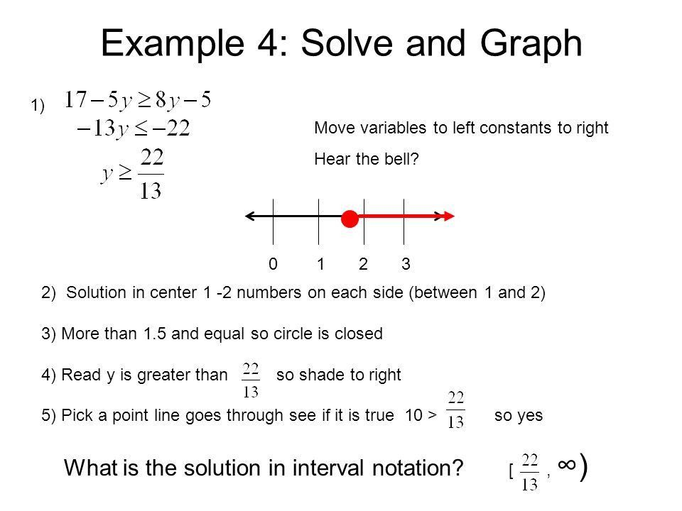 Lesson 2-4: Solving Inequalities Objective Students will solve and ...