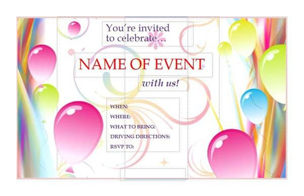 Publisher Templates Invitations | almsignatureevents.com