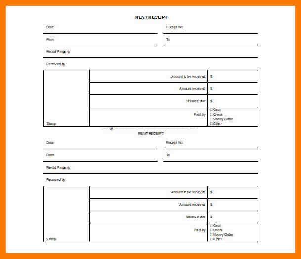 7+ rental receipt template uk | park-attendant