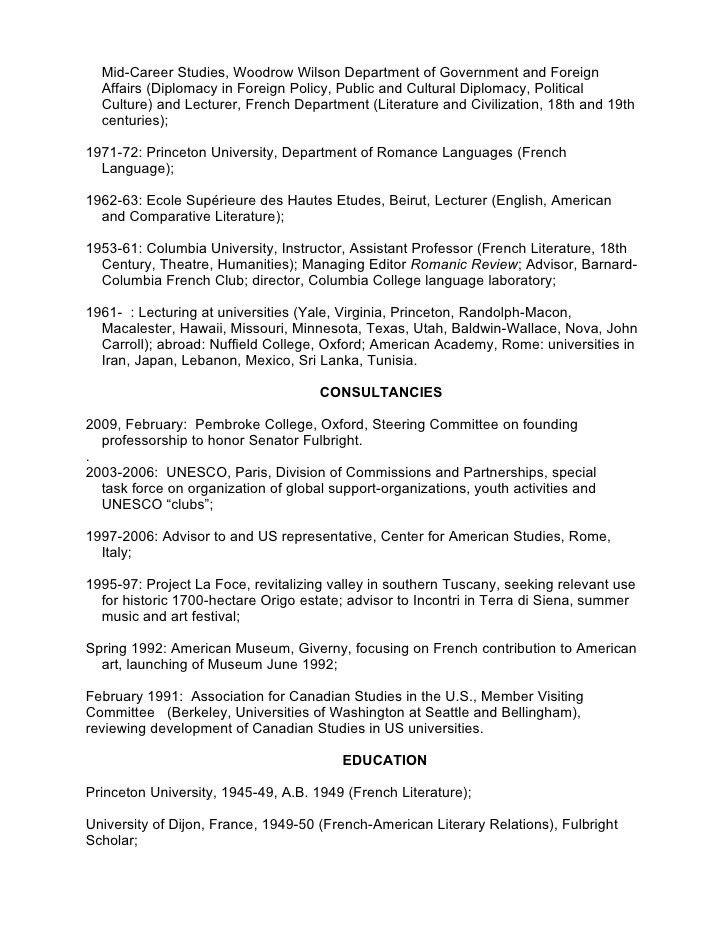 Richard Arndt personal resume, Feb 2009
