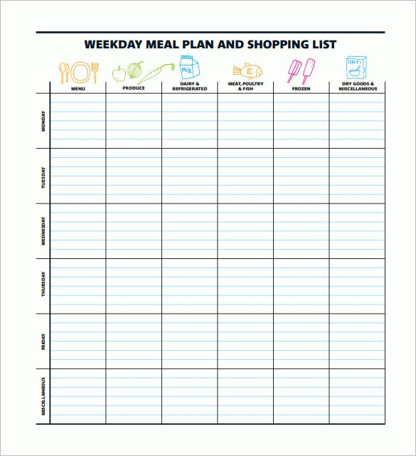 12+ Meal Planning Templates – Free Sample, Example, Format ...