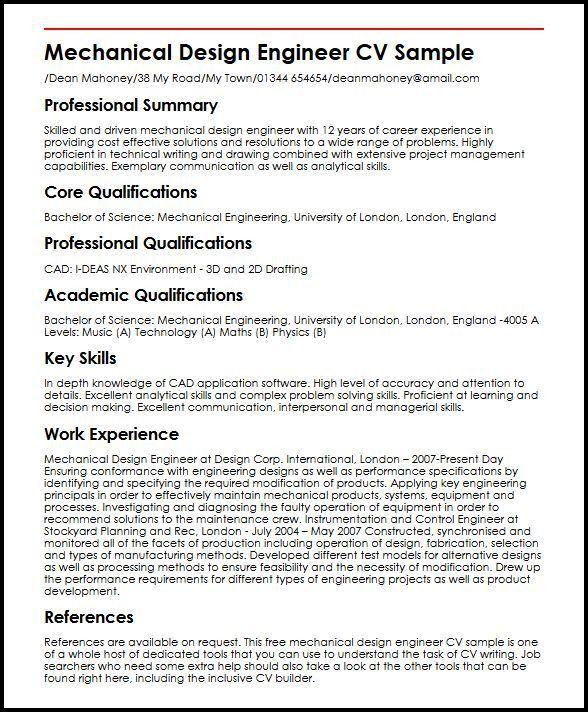 Cad Engineer Sample Resume | haadyaooverbayresort.com