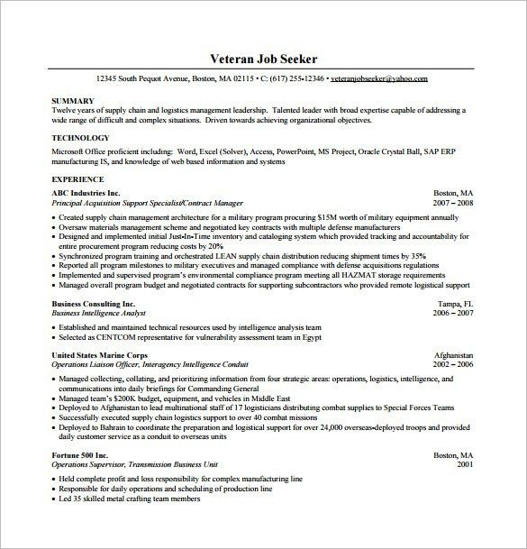 Business Resume Template – 11+ Free Word, Excel, PDF Format ...