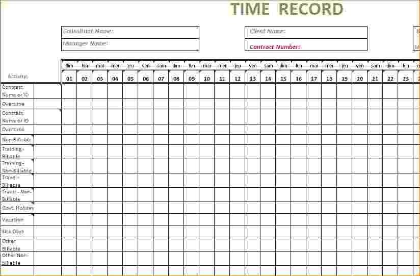8+ Timesheet Template Excel | Timeline Template