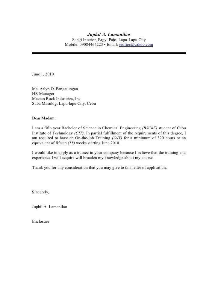 sample of cover letter for business student