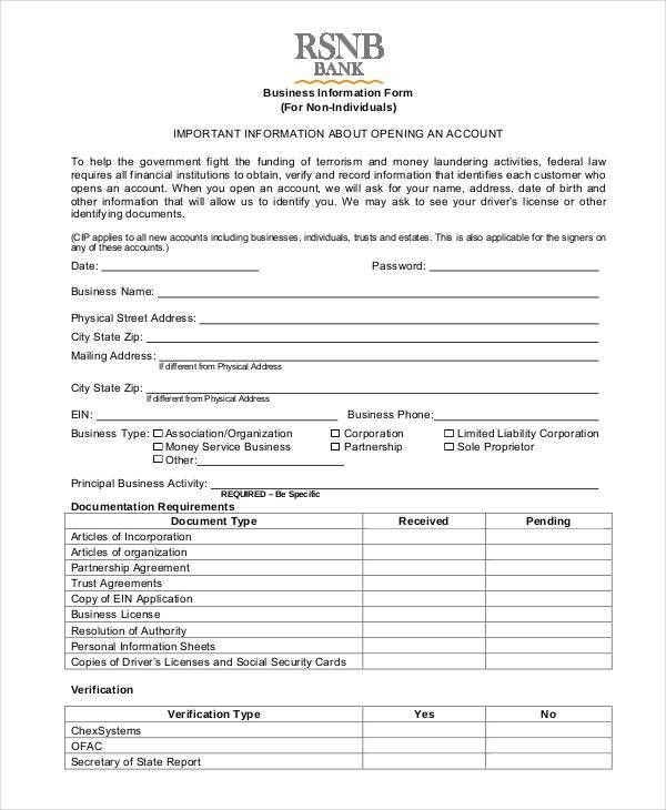 Information Form Template Employee Information Form Office – Information Form Template Word