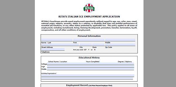 Rita's Job Application - Adobe PDF - Apply Online