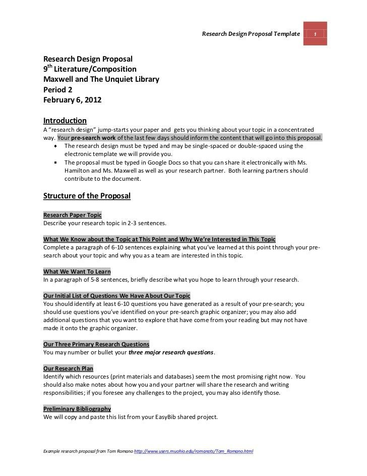 Research Design Proposal Guidelines and Template Maxwell and The Unqu…