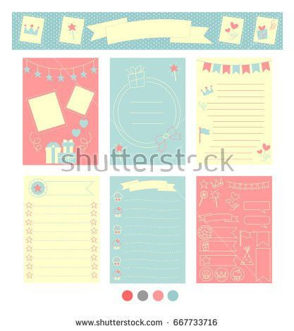 Signs Symbols Organized Your Planner Template Stock Vector ...