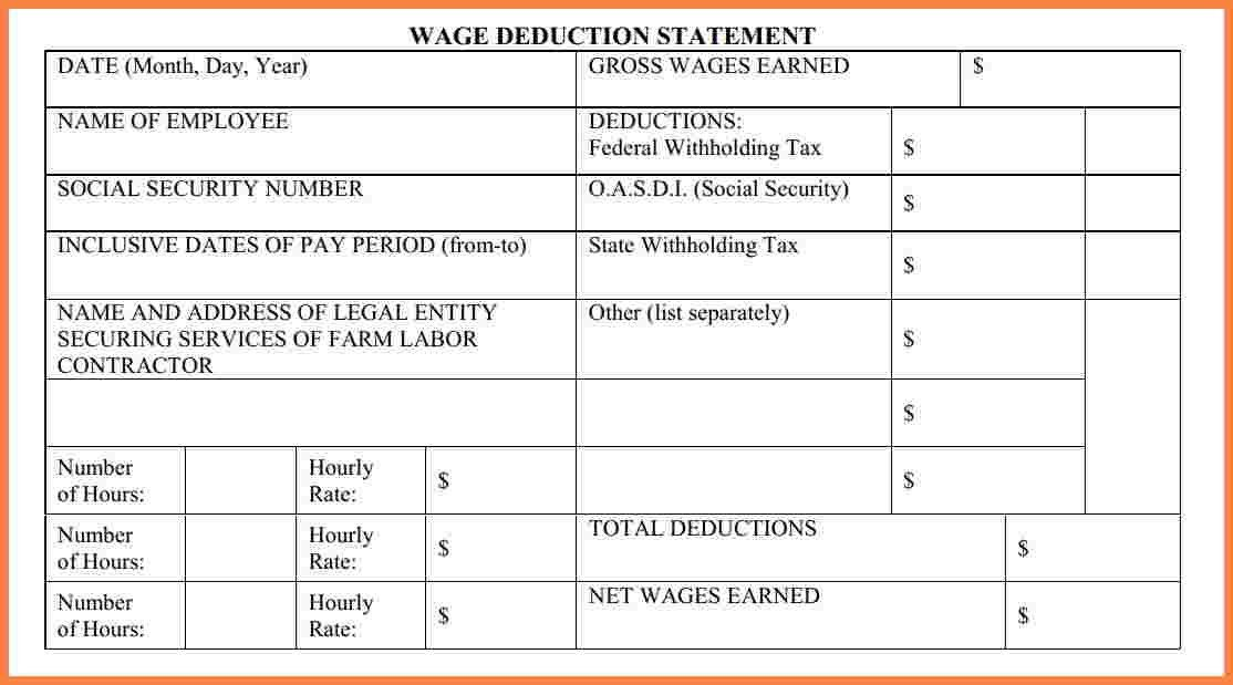 8+ free contract labor pay stub template | Securitas Paystub