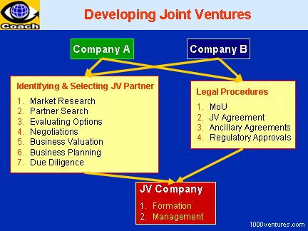 Successful Joint Ventures: FORMING a JOINT VENTURE: Important ...