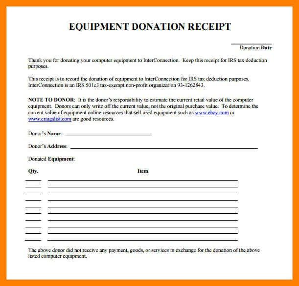 4+ donation receipt | childcare resume