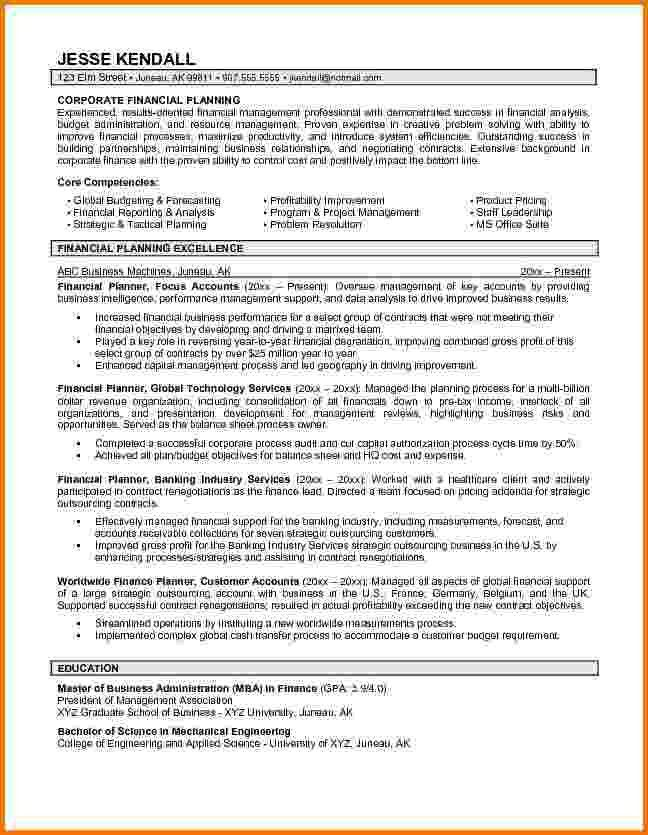 7+ financial advisor resumes | Financial Statement Form