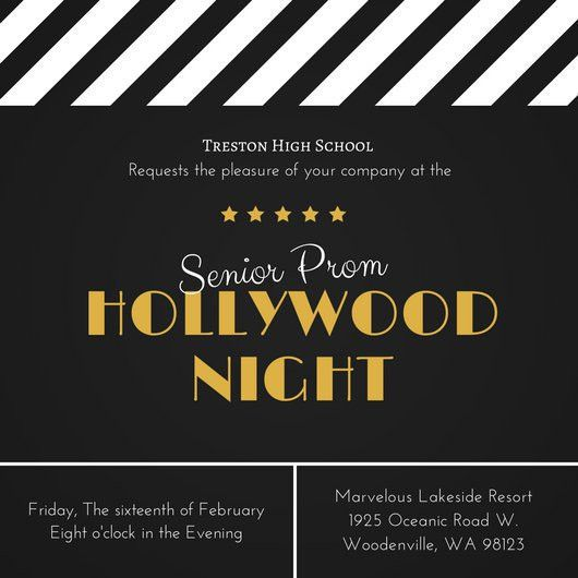 Hollywood Prom Invitation - Templates by Canva